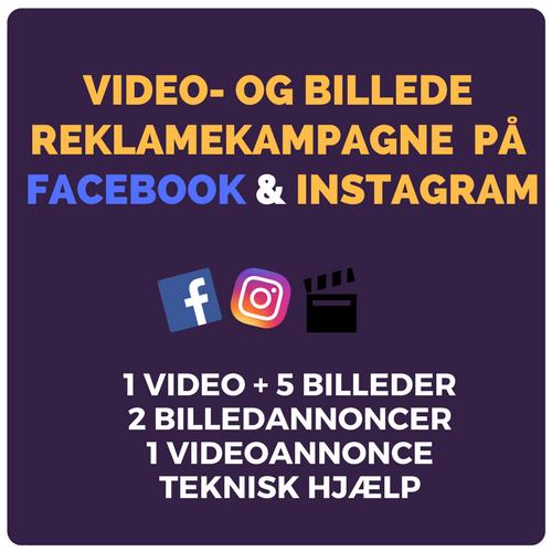 Reklamekampagne med video og billeder på Facebook og Instagram Image