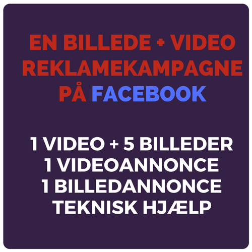 Billede & video reklamekampagne på Facebook Image