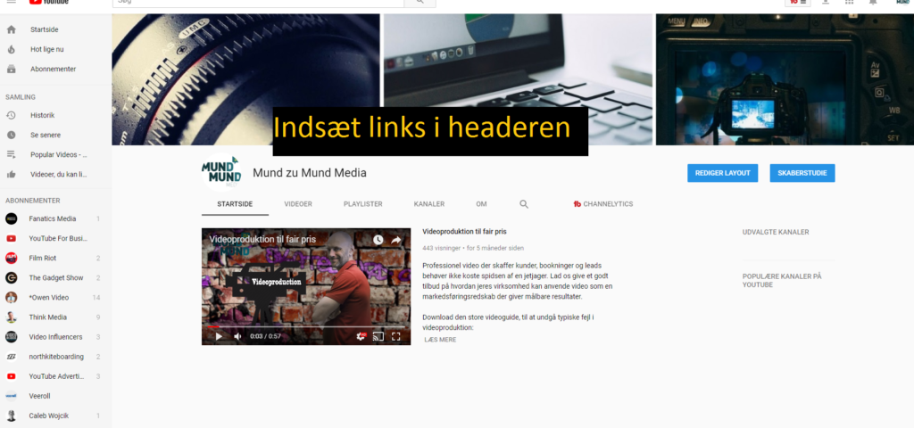 YouTube banner reklame