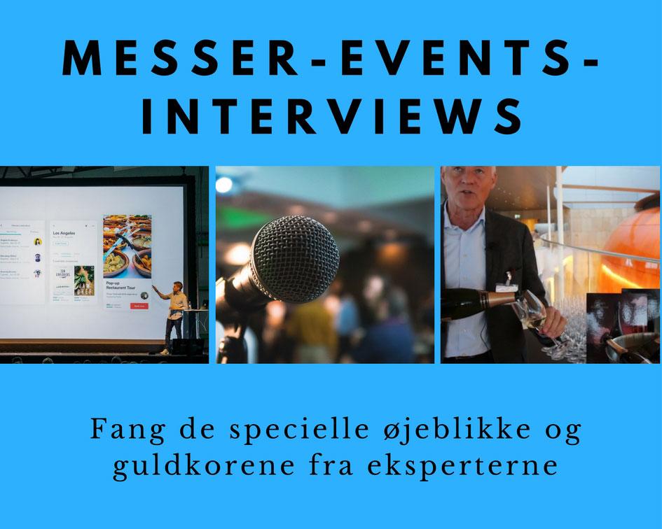 Forevig messer, events og interviews med video Image