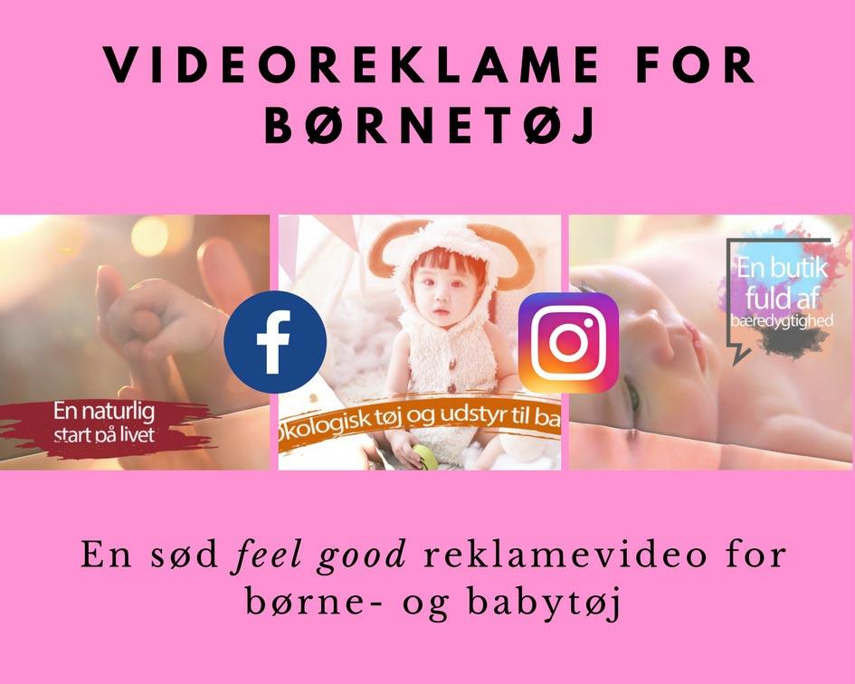 Videoreklame for børnetøj Image