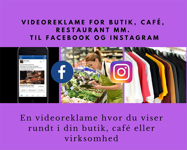 Videoreklame for butik, restaurant, café mm. Image